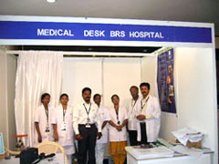 DR.B.MADHUSUDHAN, MANAGING DIRECTOR OF BRS HOSITAL WITH THE BRS STAFF